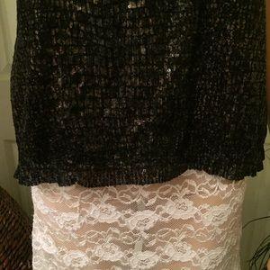 Covington Tops - Covington sleeveless Black Sequined Top